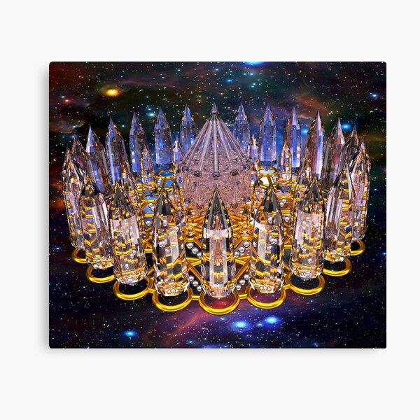 Crystal Merkaba Matrix Stargate Canvas Print