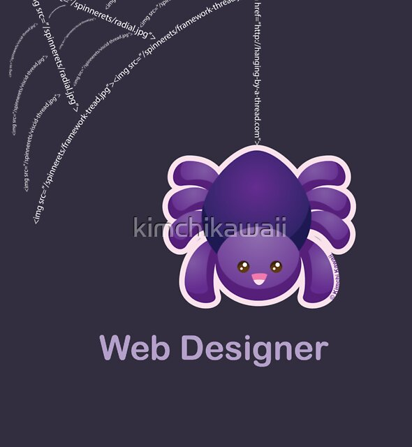 Cute Spider Web Designer by kimchikawaii