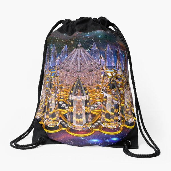 Crystal Merkaba Matrix Stargate Drawstring Bag