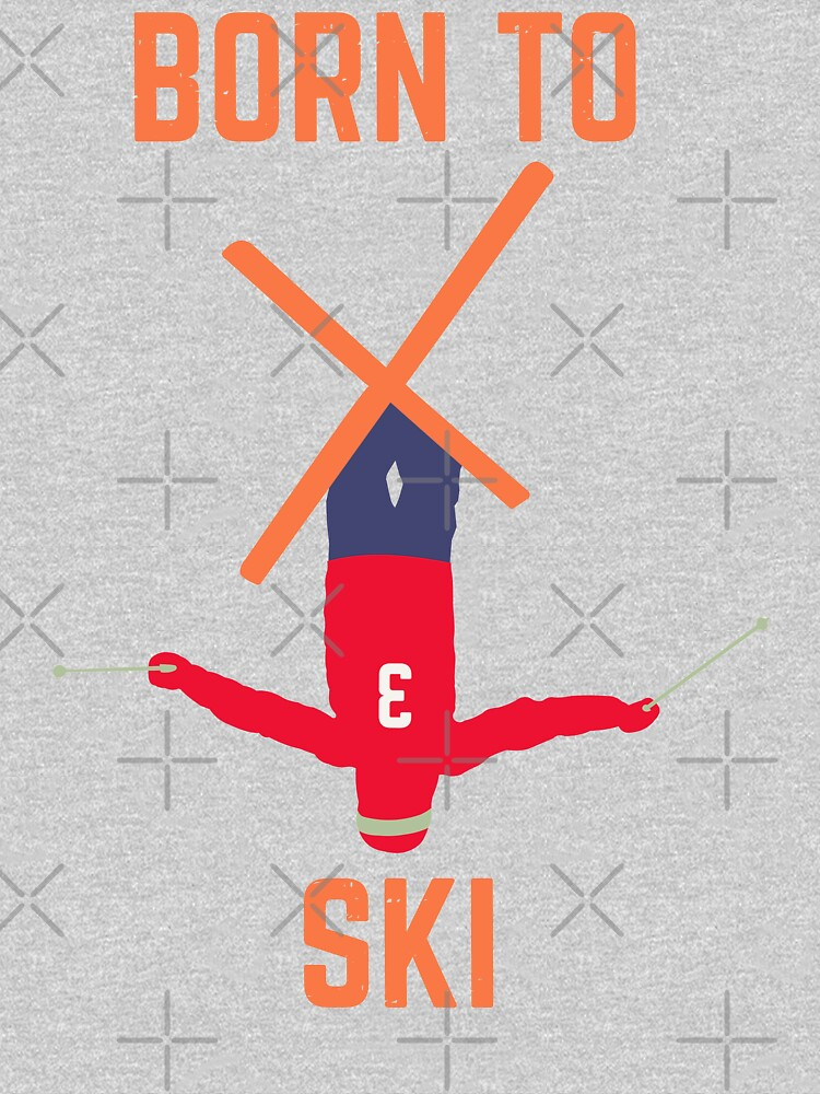 born to ski, skier, skiing by PlantVictorious