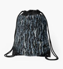 Stopping By Woods On a Snowy Evening Drawstring Bag
