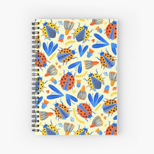 Spring Ladybird Botanical  Spiral Notebook