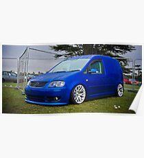 VW Caddy Van Poster