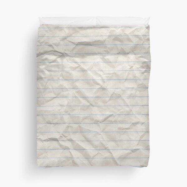 Crinkled lined paper Duvet Cover