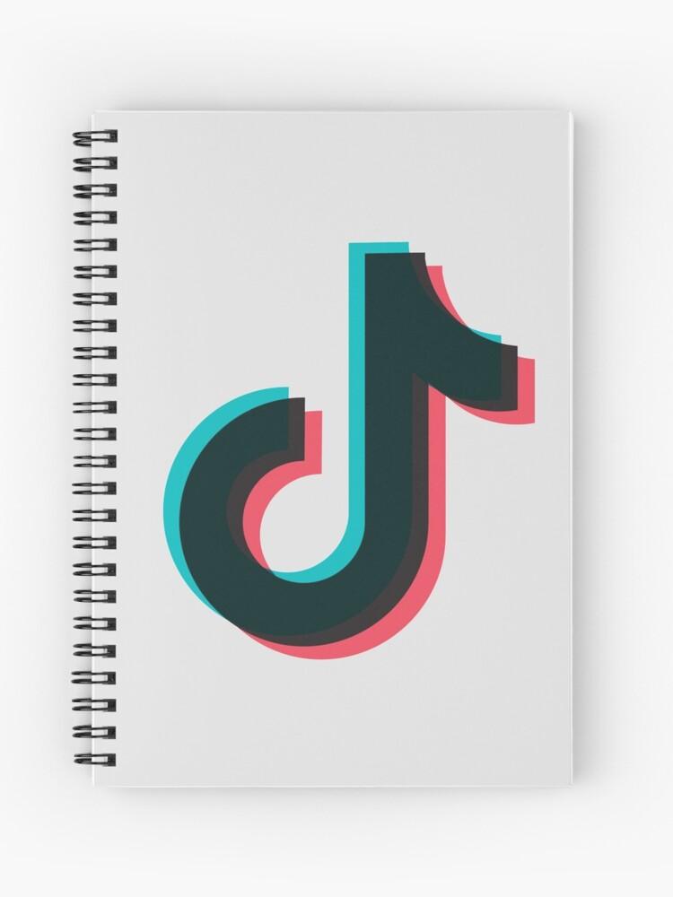 tiktok logo aesthetic spiral notebook by primeybaby redbubble redbubble