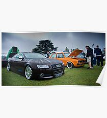 Audi & MK1 Golf Poster