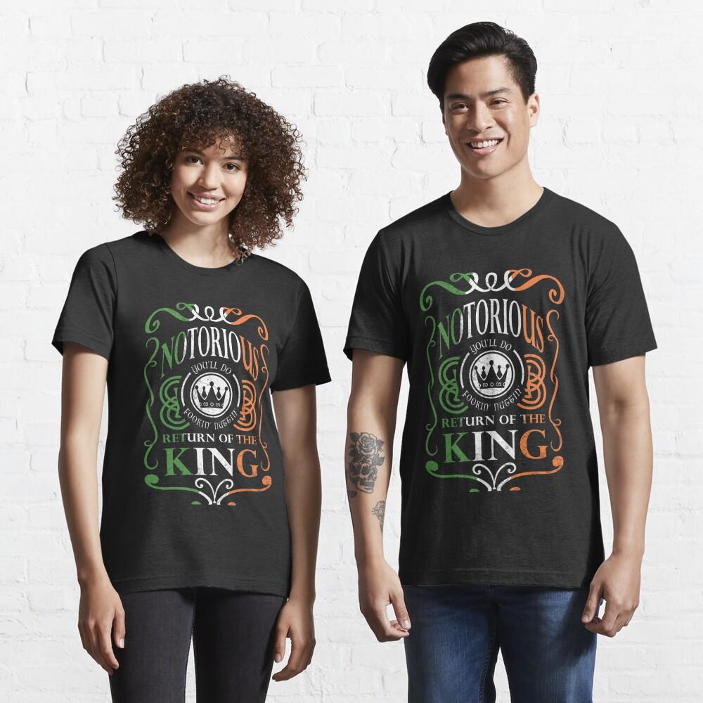 Notorious Return of the King- Irish Shamrock Tricolour Flag Essential T-Shirt