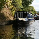 Narrow boat on Llangollen Canal by Peter  Thomas