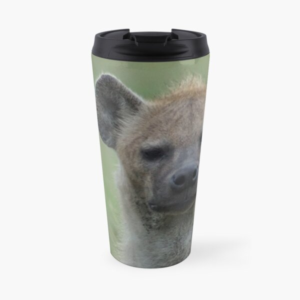 A grumpy Hyena Travel Mug