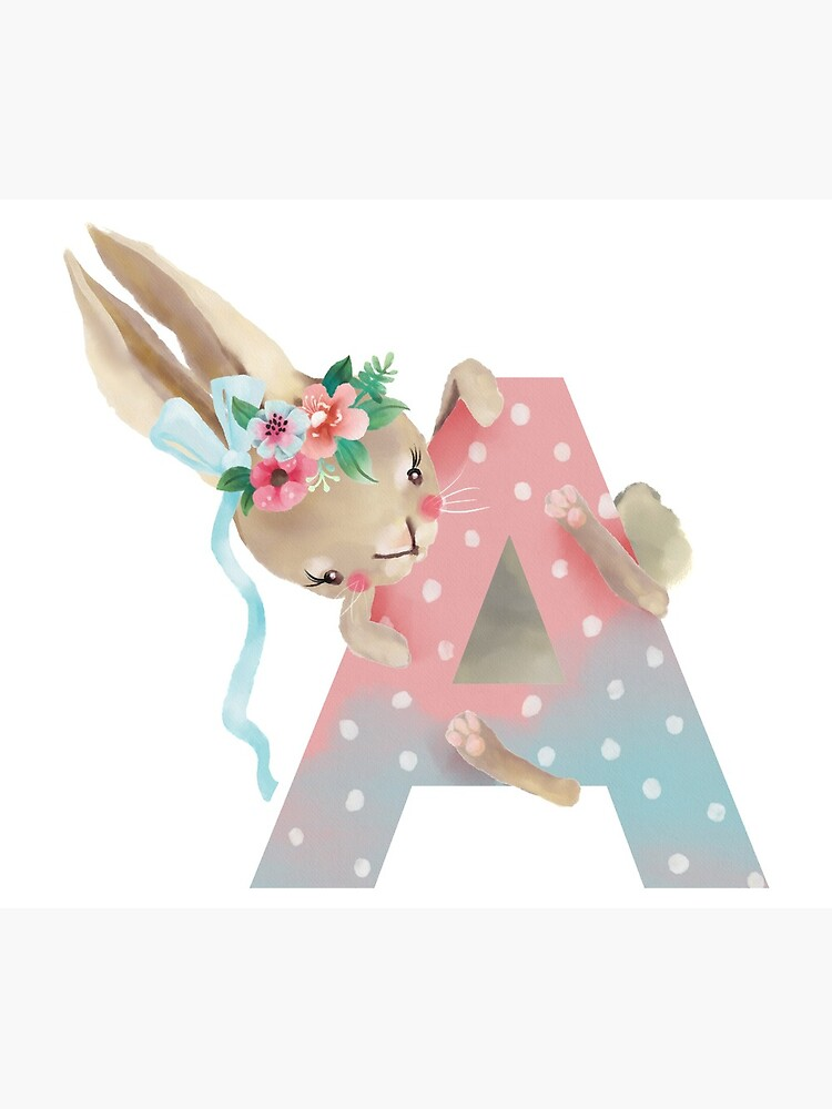 Animal A Alphabet Initial Bunny Rabbit  by Margaretmilrose
