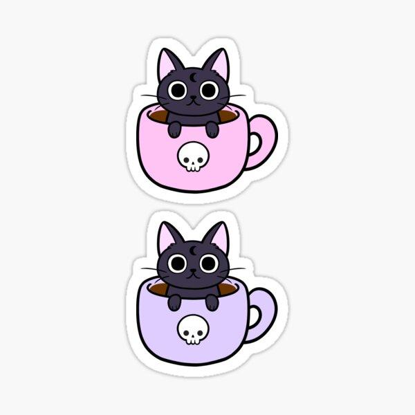 Pastel Coffee Cat | Nikury Sticker