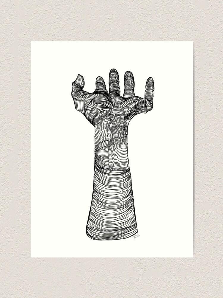 Impression artistique ''Main mystique | encre': autre vue