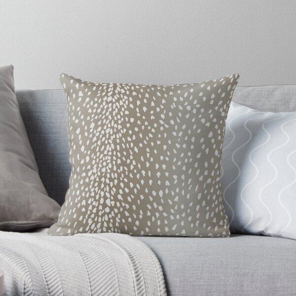 Antelope Fawn Print Throw Pillow
