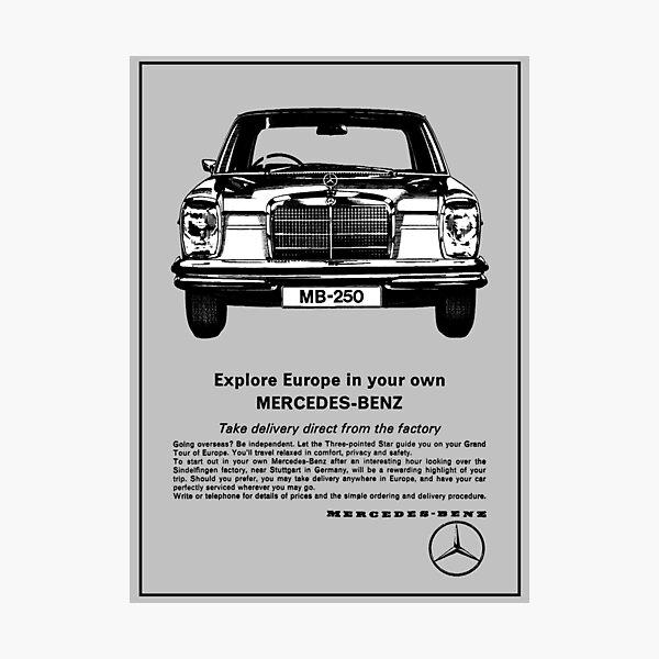 80s Mercedes Photographic Prints Redbubble