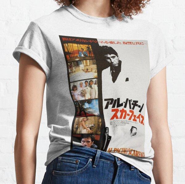 Al Pacino Scarface 1983 Japanese Movie Poster Art Camiseta clásica