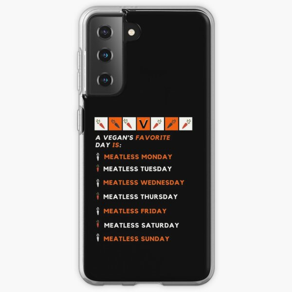 Vegan's Favorite Day of the Week (Version 2) Samsung Galaxy Soft Case