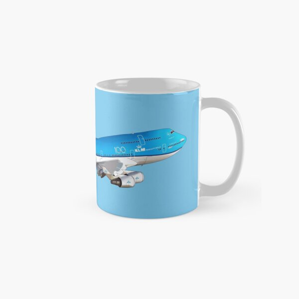 KLM Royal Dutch Airlines 100 Years Logo Coffee Mug Cup