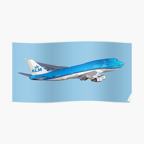 Boeing 747 KLM royal dutch airlines Poster
