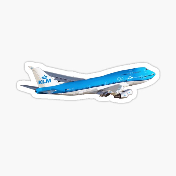 Boeing 747 KLM royal dutch airlines Sticker