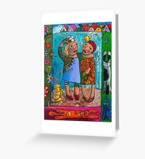 Soul Sisters kitty love Greeting Card