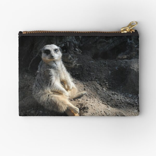 A meerkat having a rest Zipper Pouch