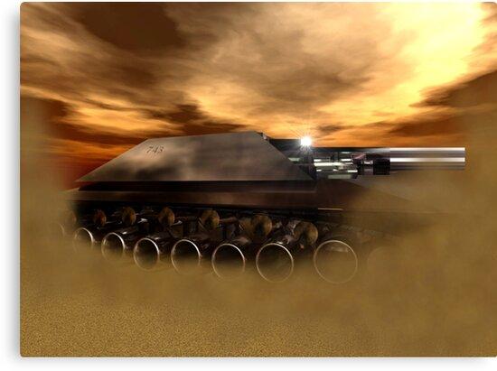 """Detosian Mk. XXXIII """"Huntress"""" MBT by XadrikXu"""