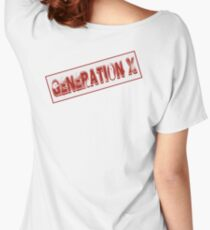 Generation X Stamp Women's Relaxed Fit T-Shirt