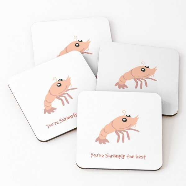Shrimply the best Coasters (Set of 4)