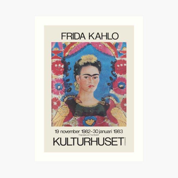 Frida Kahlo - Exhibition poster for Kulturhuset, Stockholm, 1982 Art Print
