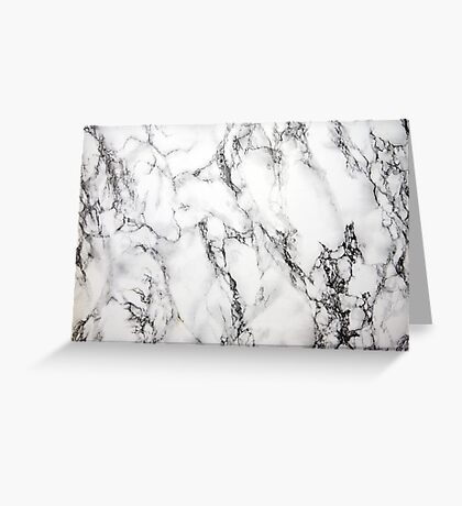 White Marble  Greeting Card