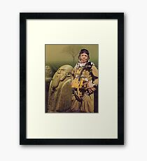 M Blackwell - Still, he was happy... Framed Print