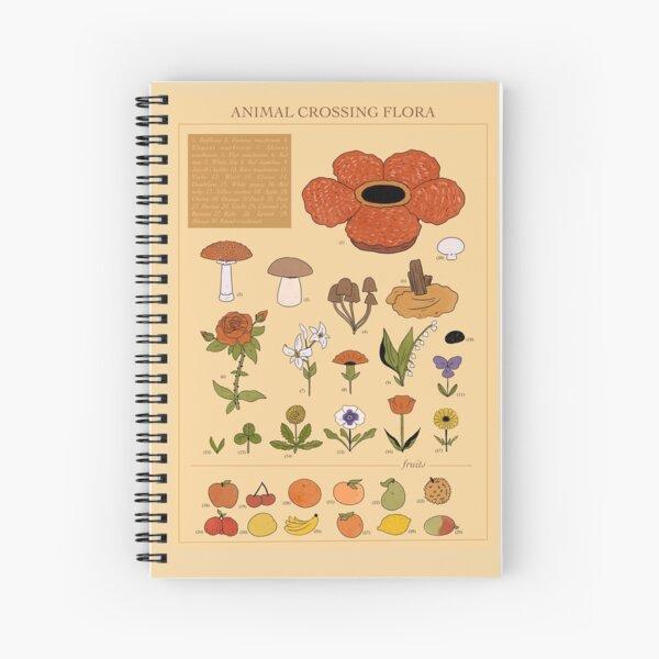 CROSSING FLORA ANIMAL Spiral Notebook