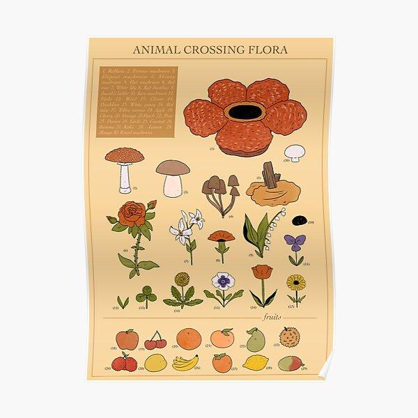 CROSSING FLORA ANIMAL Poster