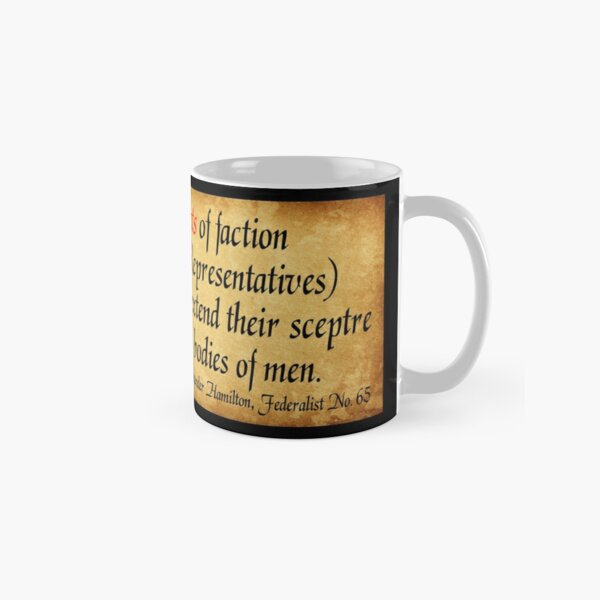 Hamilton's Federalist Paper #65 Classic Mug