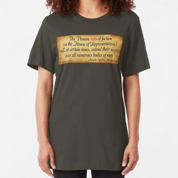 Hamilton's Federalist Paper #65 Slim Fit T-Shirt