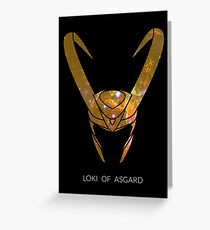 Loki of Asgard Greeting Card