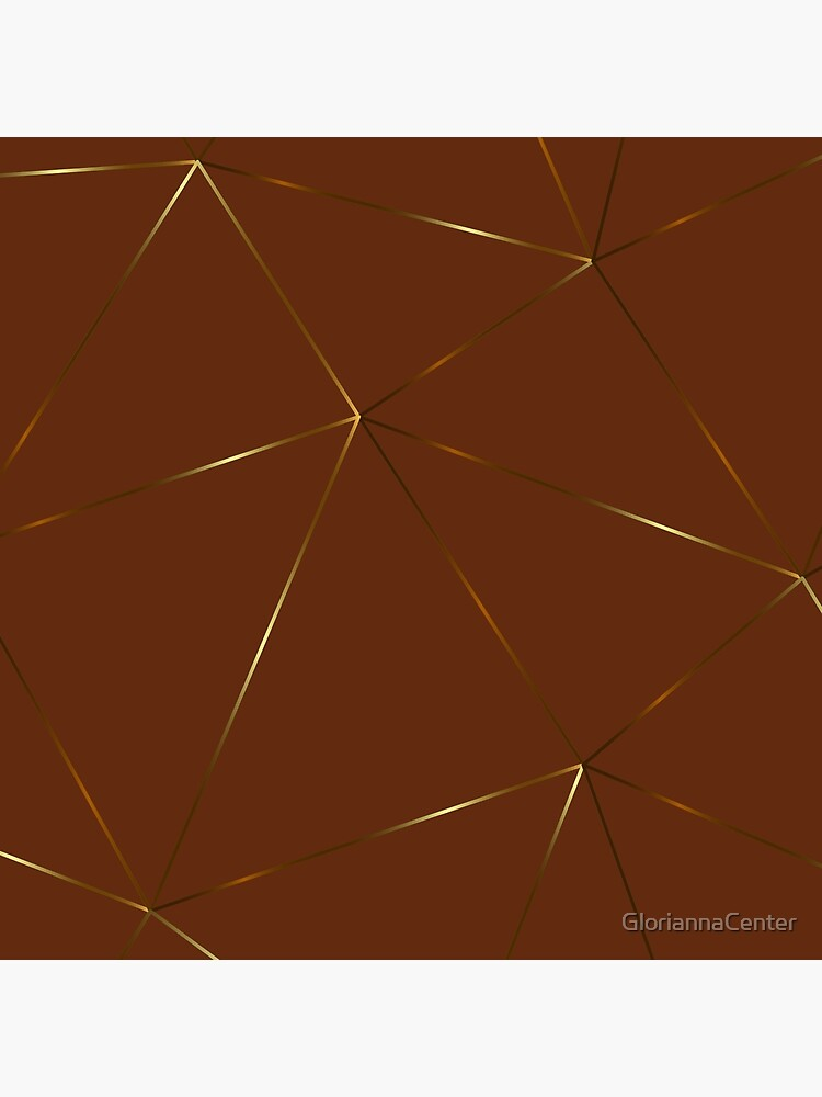 Gold rich brown geometric pattern by GloriannaCenter