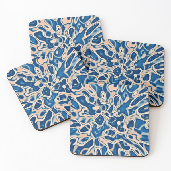 Abstraction of DarkSlateBlue Bisque Coasters (Set of 4)