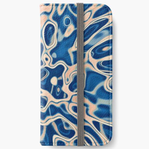 Abstraction of DarkSlateBlue Bisque iPhone Wallet