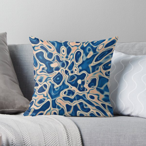 Abstraction of DarkSlateBlue Bisque Throw Pillow