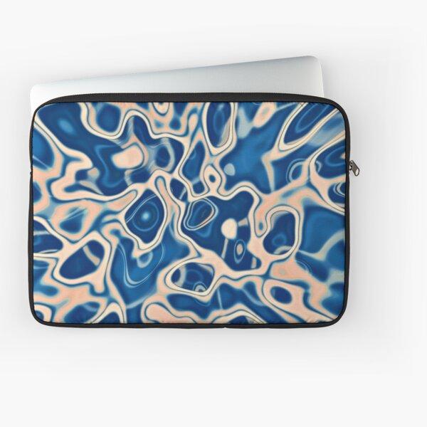 Abstraction of DarkSlateBlue Bisque Laptop Sleeve