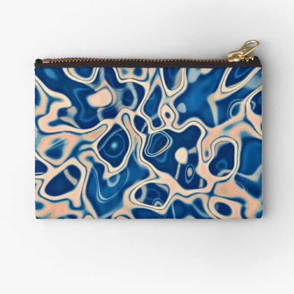 Abstraction of DarkSlateBlue Bisque Zipper Pouch