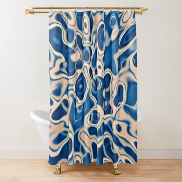 Abstraction of DarkSlateBlue Bisque Shower Curtain