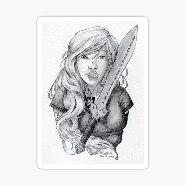 Emma Carstairs Fanart Sticker