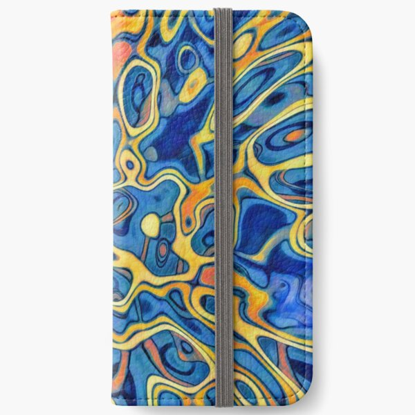 Abstraction of SteelBlue Golden Grass iPhone Wallet