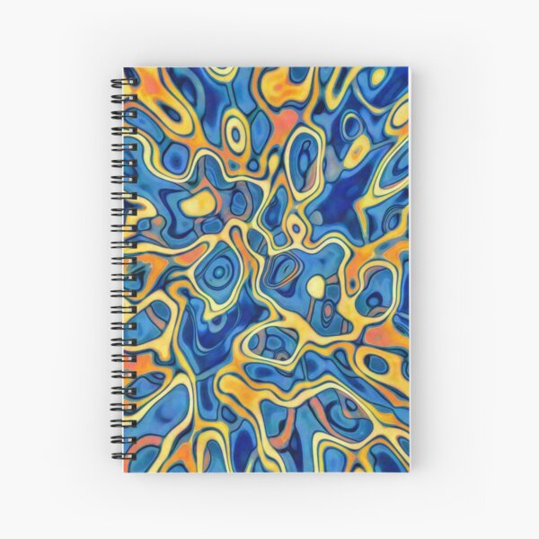 Abstraction of SteelBlue Golden Grass Spiral Notebook