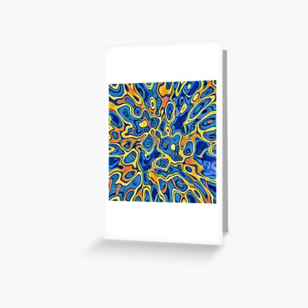 Abstraction of SteelBlue Golden Grass Greeting Card