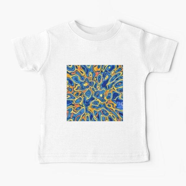 Abstraction of SteelBlue Golden Grass Baby T-Shirt
