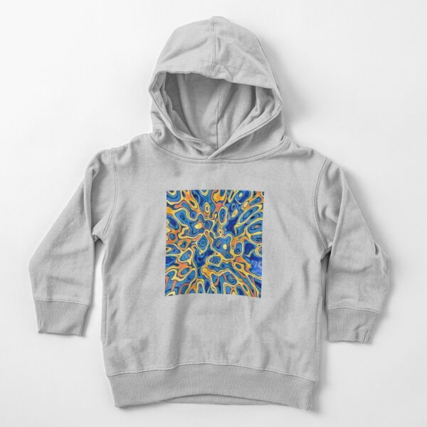 Abstraction of SteelBlue Golden Grass Toddler Pullover Hoodie