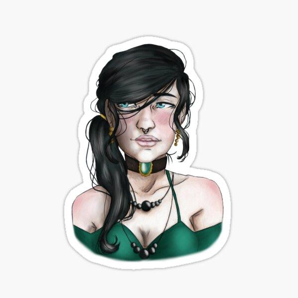 Imogen portrait Sticker